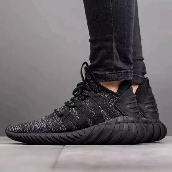 ae6bfc1b1d048a Adidas Tubular Dawn Primeknit Sneaker in Black